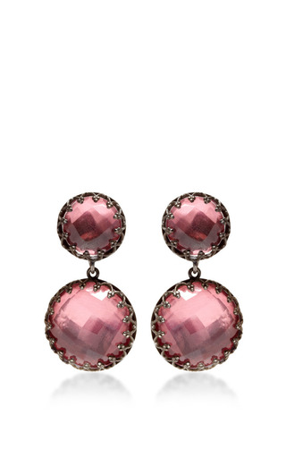 Medium larkspur hawk pink small olivia earrings in pink