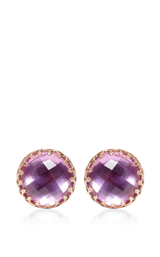Medium larkspur hawk purple large olivia post earrings in purple