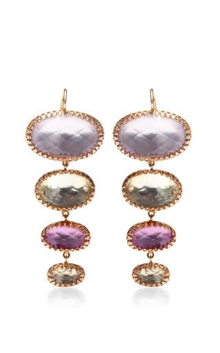Medium larkspur hawk purple large tessa earrings in pink and purple
