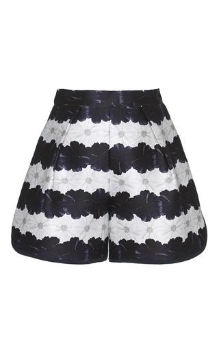 Medium mother of pearl stripe addison shorts in bloom stripe