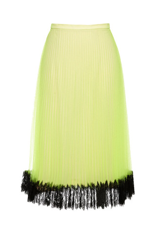 Medium christopher kane yellow neon yellow pleated tulle skirt