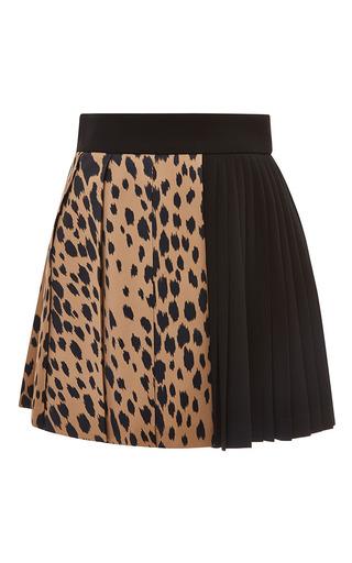 Medium fausto puglisi black leopard and black pleated skirt