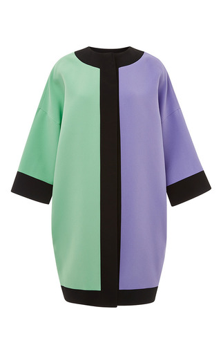 Medium fausto puglisi purple green and lilac cady caban coat