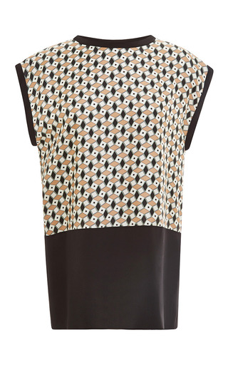 Medium fausto puglisi ivory fantasy brown and ivory paper box blouse