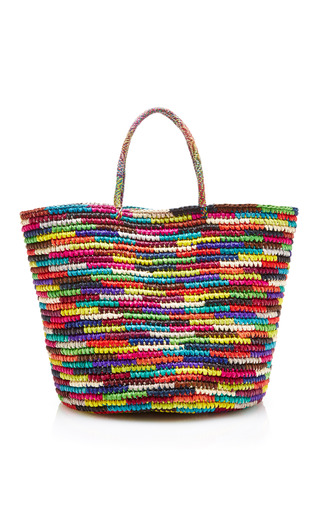 Medium sensi studio multi maxi tote woven straw multicolor