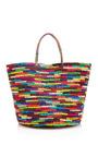 Maxi Straw Tote In Multicolor by SENSI STUDIO Now Available on Moda Operandi