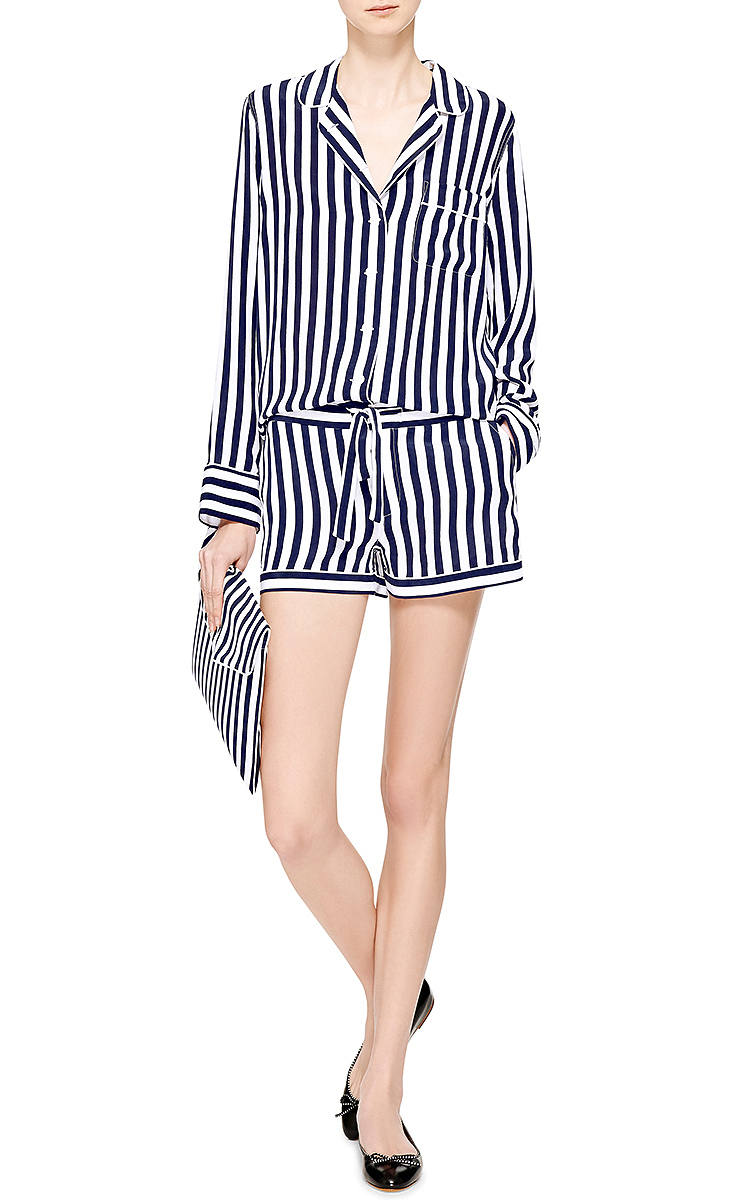 Lilian Washed-Silk Pajama Set by Equipment  f3eab976e
