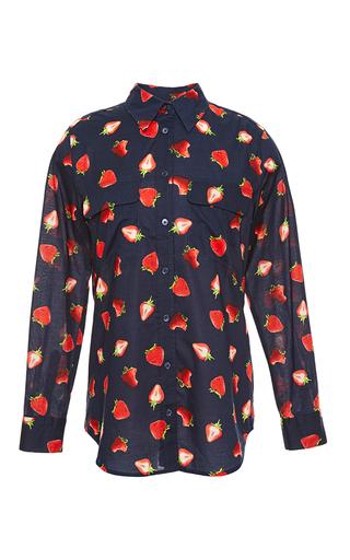 Medium equipment blue assorted strawberries slim signature shirt