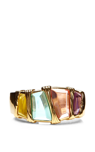 Medium house of lavande gold 1980s givenchy cuff
