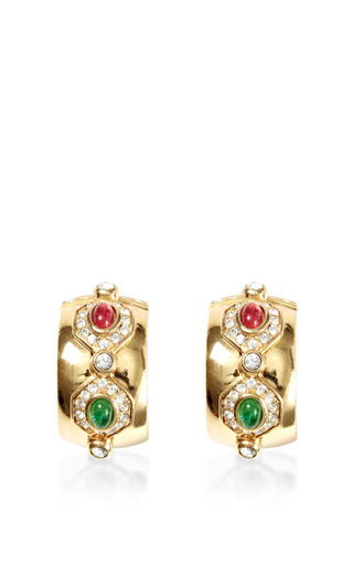 Medium house of lavande red christian dior clip on hoop earrings