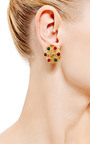 1990 S Chanel Gold Clip On Earrings by HOUSE OF LAVANDE for Preorder on Moda Operandi