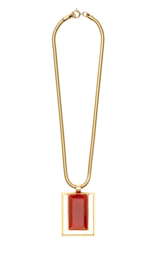 Medium house of lavande red lanvin necklace