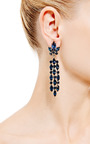 1950 S Chandelier Clip On Earrings by HOUSE OF LAVANDE for Preorder on Moda Operandi