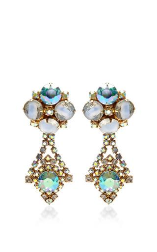 1950 S Hobe Gold Drop Earrings by HOUSE OF LAVANDE for Preorder on Moda Operandi
