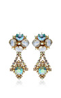 1950 S Hobe Gold Drop Earrings by HOUSE OF LAVANDE for Preorder on Moda Operandi