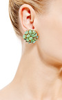 Trifari Gold Cluster Earrings by HOUSE OF LAVANDE for Preorder on Moda Operandi