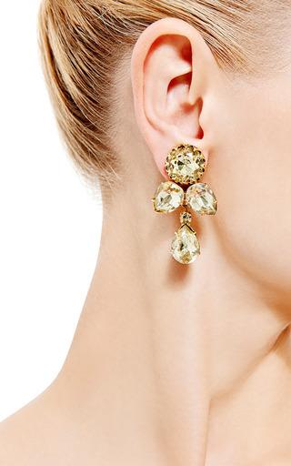 1950 S Gold Earrings by HOUSE OF LAVANDE for Preorder on Moda Operandi