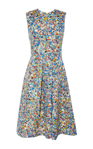 Medium roksanda ilincic multi blue print oakes dress