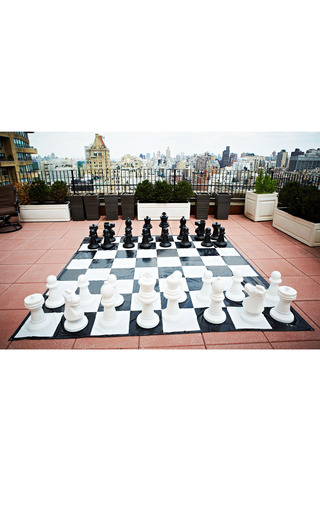 Giant Chess Set With Game Board by DOM SPORTS Now Available on Moda Operandi