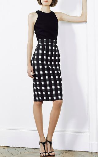 Black White Check Check Pencil Skirt by Martin Grant | Moda Operandi