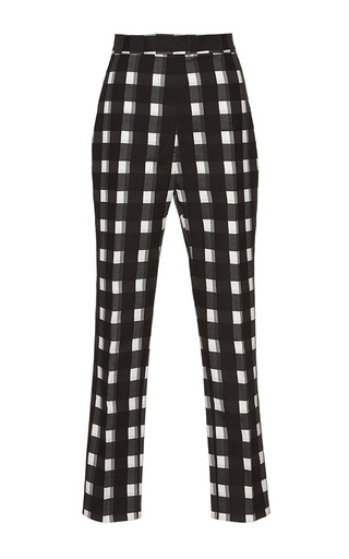 Medium martin grant white black white check cigarette cropped pants