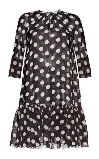 Medium martin grant ivory dots black ivory baby doll polka dot dress