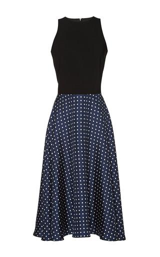 Medium martin grant black dots navy white and black polka dots swing dress