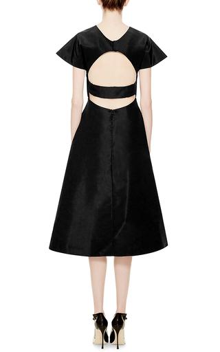 Buttercup Open Back Silk Faille Dress by ROSIE ASSOULIN Now Available on Moda Operandi