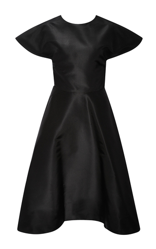 Medium rosie assoulin black buttercup dress in black ultrafine silk faille