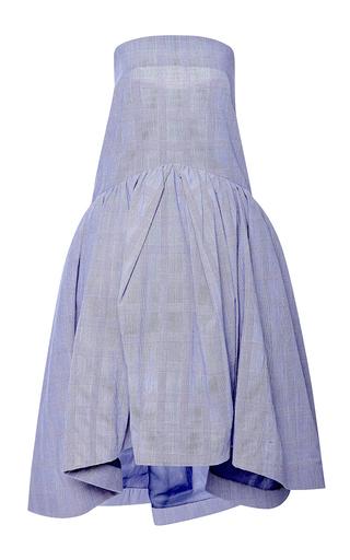 Medium rosie assoulin blue brush skirt in cobalt prince of wales blended cotton
