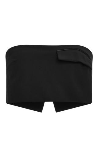 Medium josh goot black new tailoring cropped strapless top