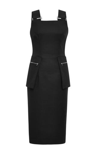 Medium josh goot black new utility contrast strap pencil dress