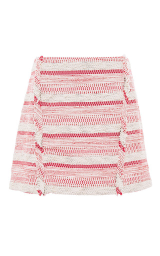 Medium thakoon addition pink skirt with fringe detail