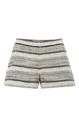 Medium thakoon addition dark grey short with braided trim