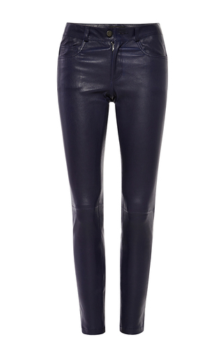 Medium joseph blue jeannie matt stretch leather pants