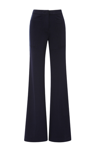 Medium derek lam blue flare trouser with patch pockets in navy