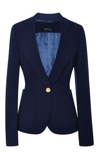 Medium derek lam blue one button blazer in navy