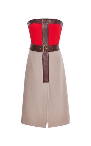 Medium derek lam multi strapless bicolor dress