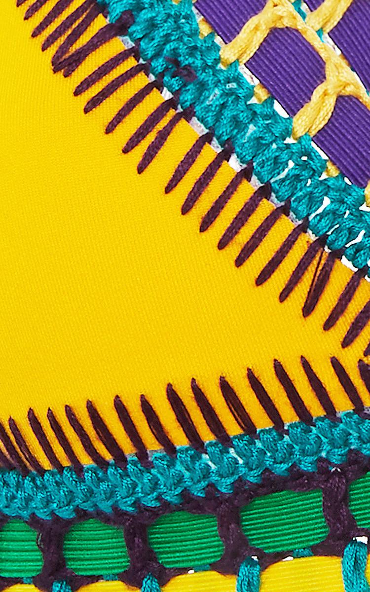 Ro Neon Threaded Yellow Bikini Top by Kiini | Moda Operandi