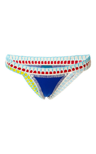 Medium kiini blue tuesday royal with multi bikini bottom