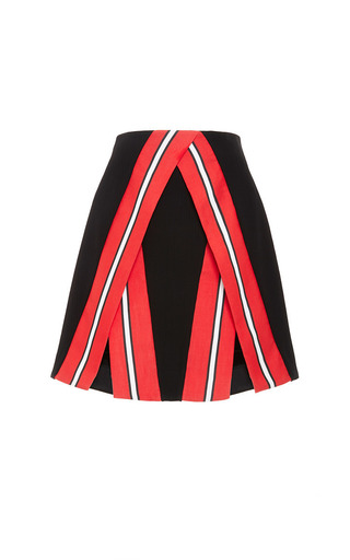 Rippled Cotton Emmy Skirt In Black by TANYA TAYLOR for Preorder on Moda Operandi