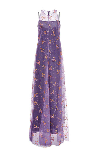 Medium mary katrantzou multi glitter gown floral violine