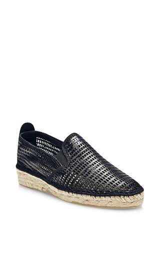 Medium prism black maroca espadrilles natural sole