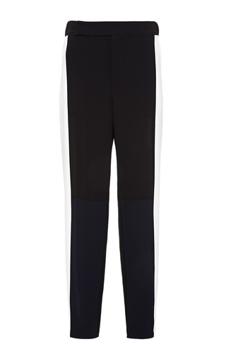 White And Black Track Pants by TIMO WEILAND for Preorder on Moda Operandi