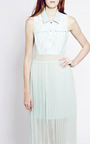 Mint Tabitha Shirt Dress by TIMO WEILAND for Preorder on Moda Operandi