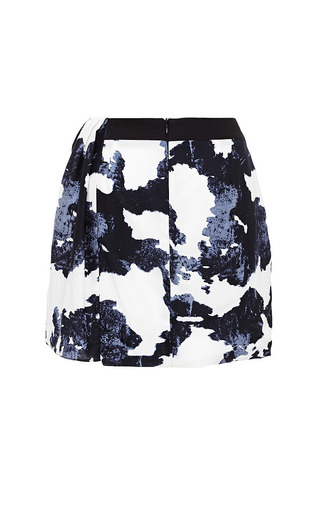 Navy And White Esmerelda Skirt by TIMO WEILAND for Preorder on Moda Operandi