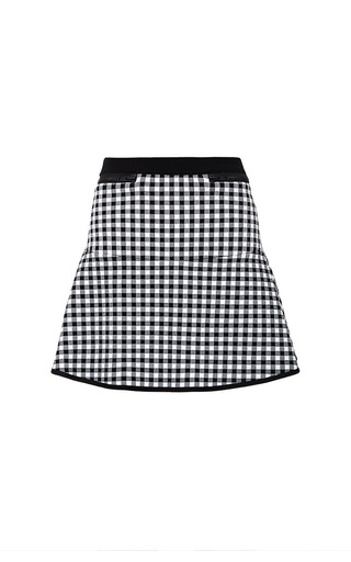 Medium timo weiland white black and white gingham flared skirt