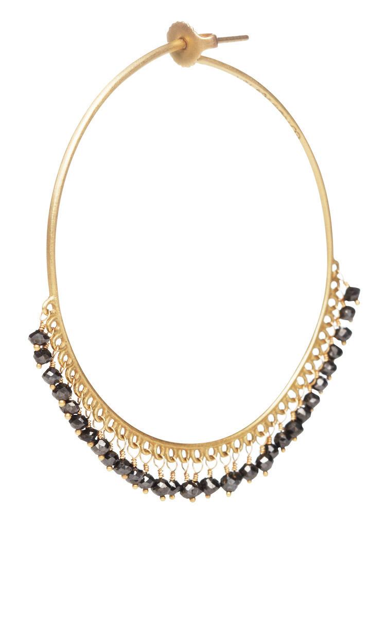 0ba678ee6 Large Diamond Endless Hoop Earrings by Me & Ro | Moda Operandi