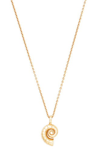 Medium me ro gold moonshell pendant necklace