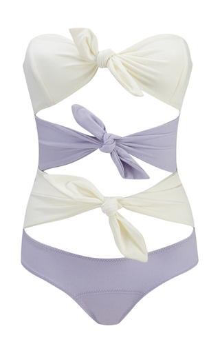 Medium lisa marie fernandez purple tripple poppy maillot lavender with cream